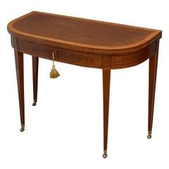 Regency Mahogany D Shaped Console Table Tea Table