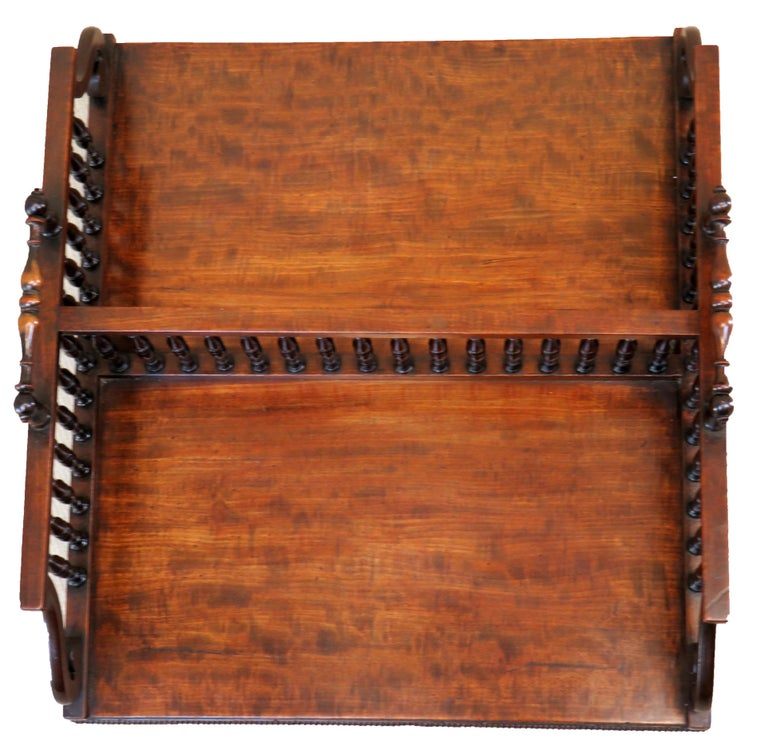 19th Century Regency Mahogany Desktop Book Stand English For Sale