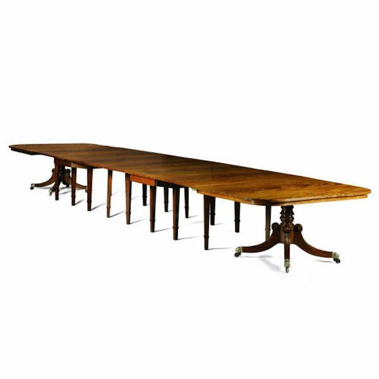 George III Regency Mahogany Dining Table from Durham Cathedral For Sale