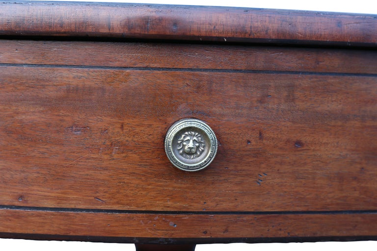 Regency Mahogany Drum Table In Good Condition For Sale In Essex, MA