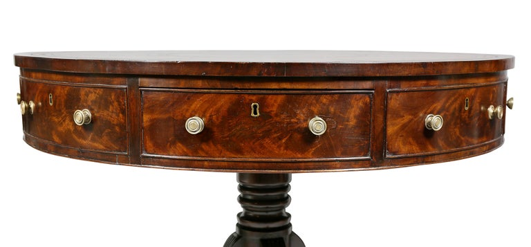 Regency Mahogany Drum Table For Sale 1