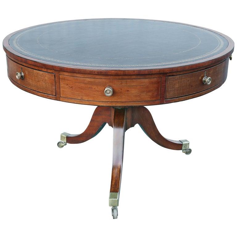 Regency Mahogany Drum Table For Sale