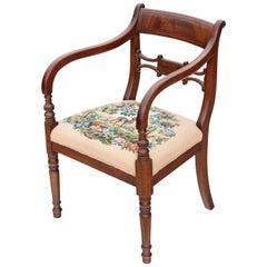 Regency Mahogany Elbow Desk Carver Chair