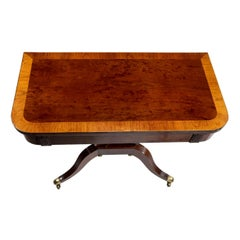 Regency Mahogany Empire Style Tea Table, circa 1815 Attributed to Thomas Hope