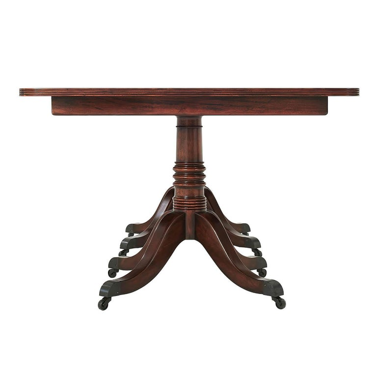 Regency Mahogany Extending Dining Table In New Condition For Sale In Port Chester, NY