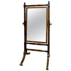 Regency Mahogany Framed Cheval Mirror, circa 1810