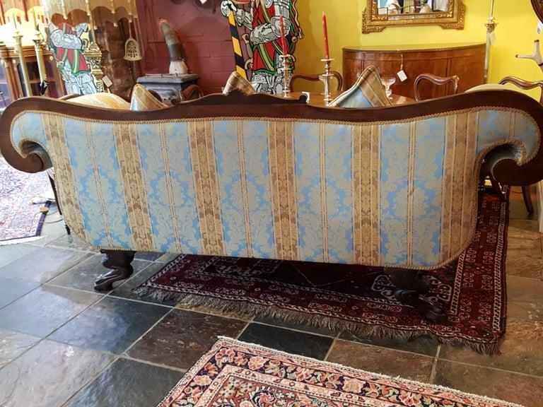 Early 19th Century Regency Mahogany Framed Sofa For Sale