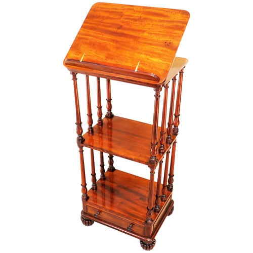Regency Mahogany Gillows Antique Whatnot Reading Stand