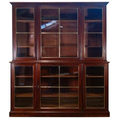 Regency Mahogany Glazed Library Bookcase, Parcel-Gilt