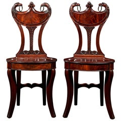 Regency Mahogany Hall Chairs