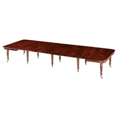 """Regency Mahogany """"Imperial"""" Dining Table by Gillows"""