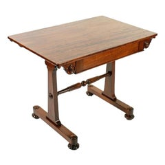 Regency Mahogany Library Table, 19th Century