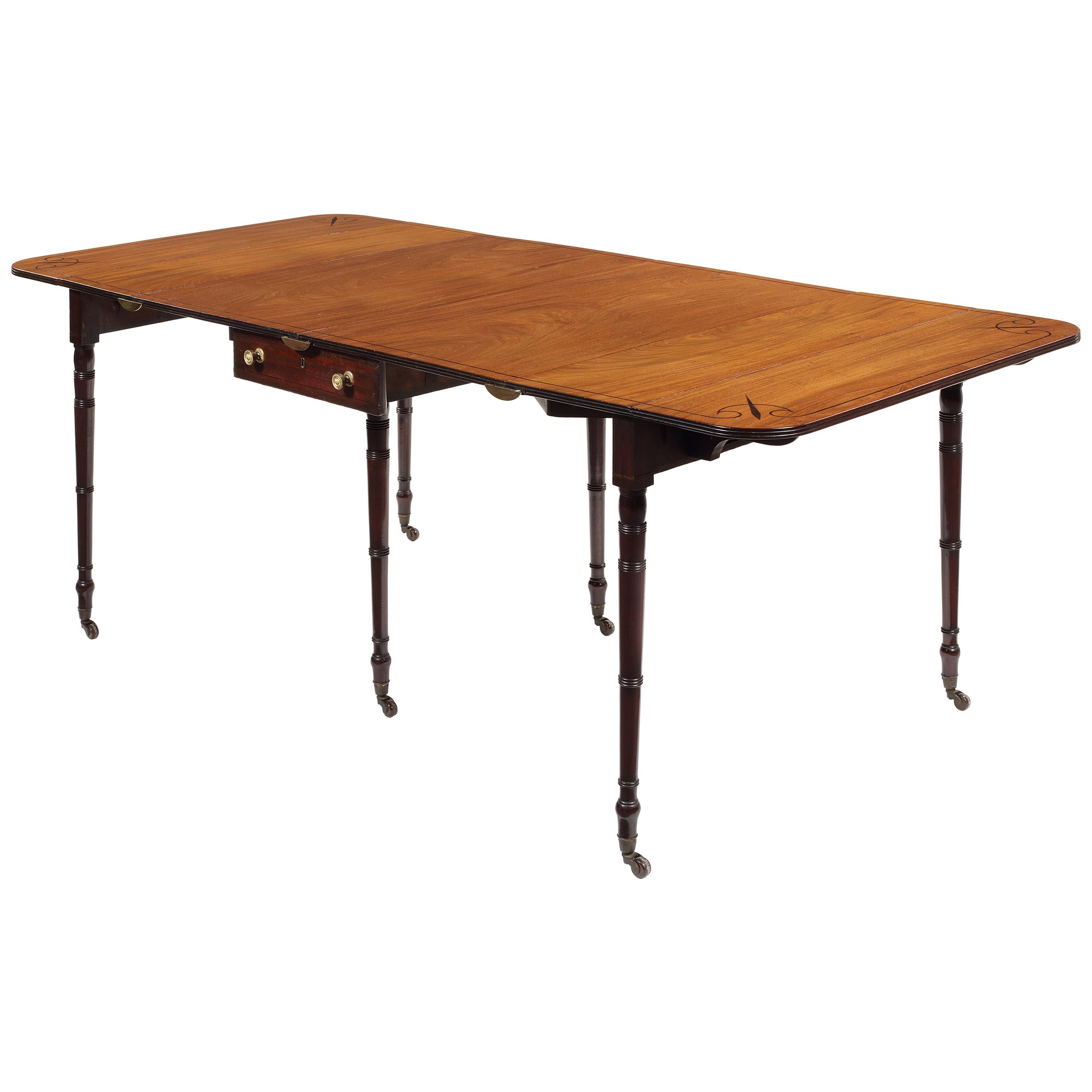 Regency Mahogany Metamorphic Dining Table