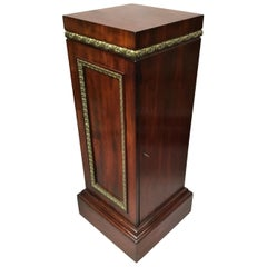 Regency Mahogany Neoclassical Pedestal Cabinet