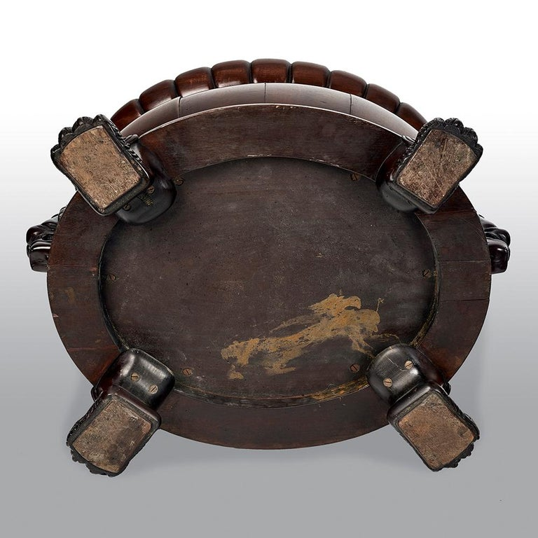 Carved Regency Mahogany Oval Wine Cooler Attributed To Gillows For Sale