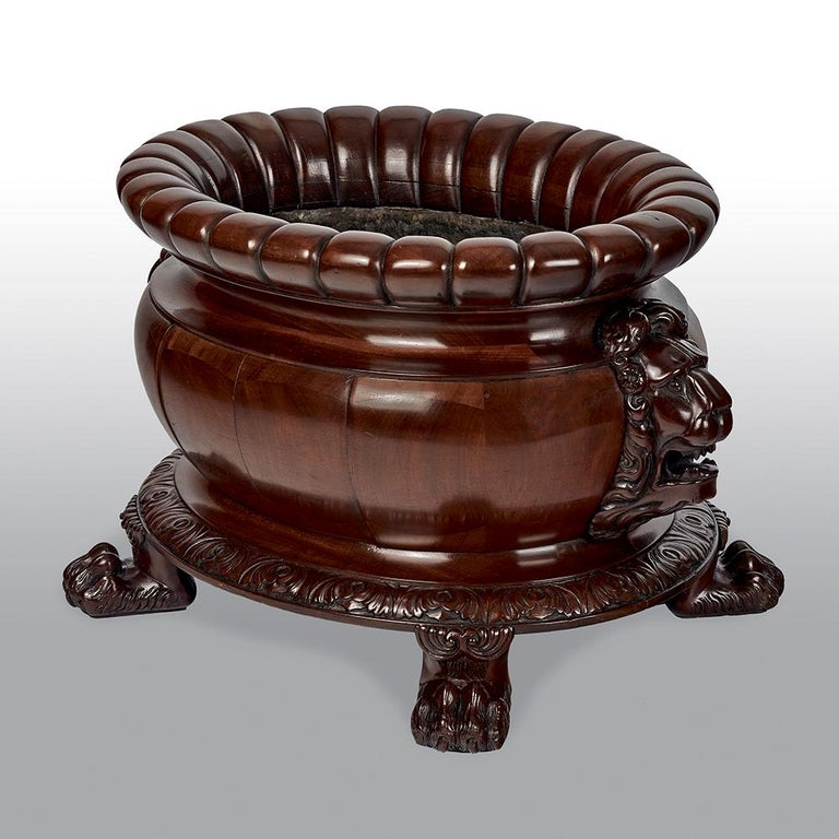 Regency Mahogany Oval Wine Cooler Attributed To Gillows In Good Condition For Sale In Uckfield, Sussex