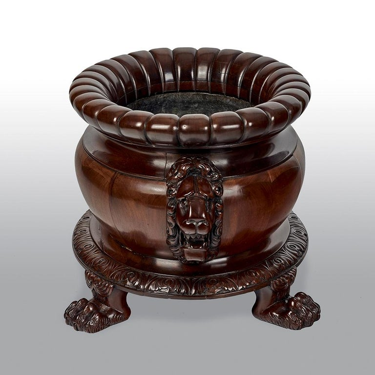 Regency Mahogany Oval Wine Cooler Attributed To Gillows For Sale 3