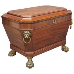 Regency Mahogany Sarcophagus Wine Cooler