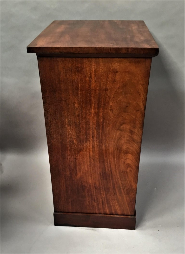 Regency Mahogany Secretaire Chest of Drawers Cabinet For Sale 9
