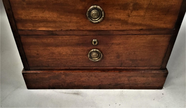 Regency Mahogany Secretaire Chest of Drawers Cabinet For Sale 14