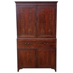 Regency Mahogany Secretaire Linen Press