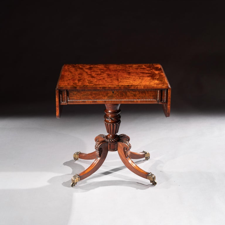 Regency Mahogany Sofa Table of Small Proportions William Trotter For Sale 6