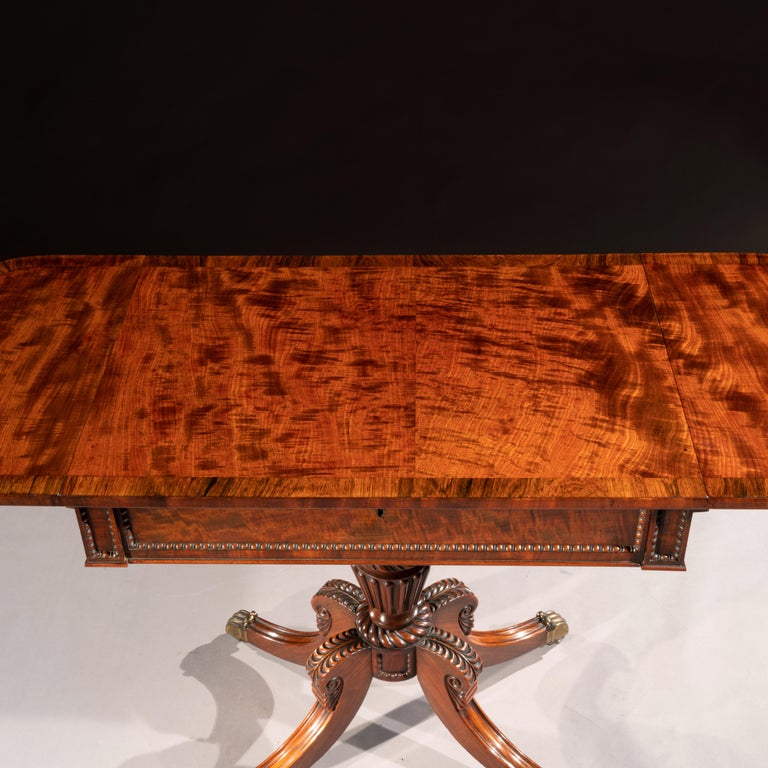 Regency Mahogany Sofa Table of Small Proportions William Trotter For Sale 8