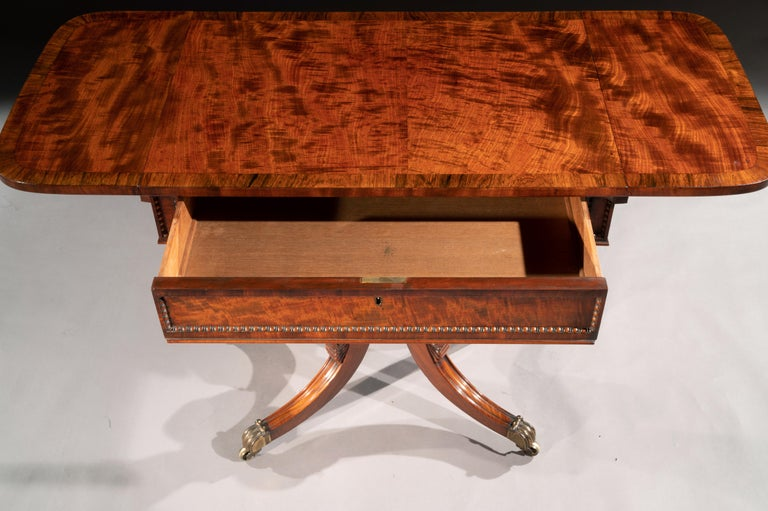 Regency Mahogany Sofa Table of Small Proportions William Trotter For Sale 9