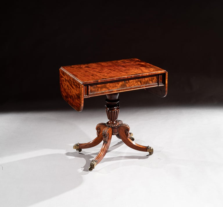 Extremely fine and of small proportions, George IV (late Regency) mahogany sofa table attributable to William Trotter of Edinburgh.  Scottish, circa 1825.  Of unusually small proportions and almost certainly made by William Trotter of