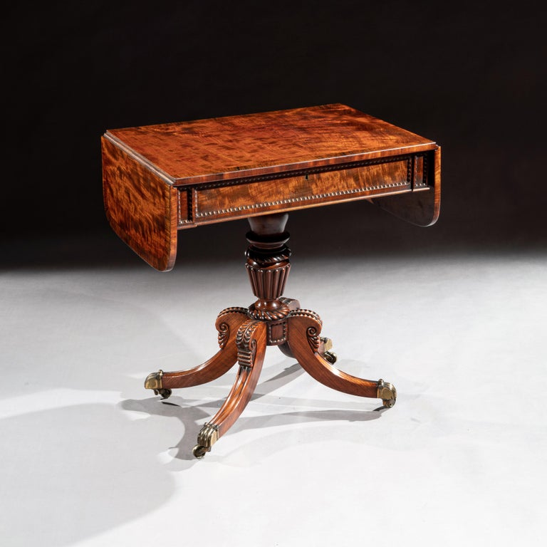 Scottish Regency Mahogany Sofa Table of Small Proportions William Trotter For Sale