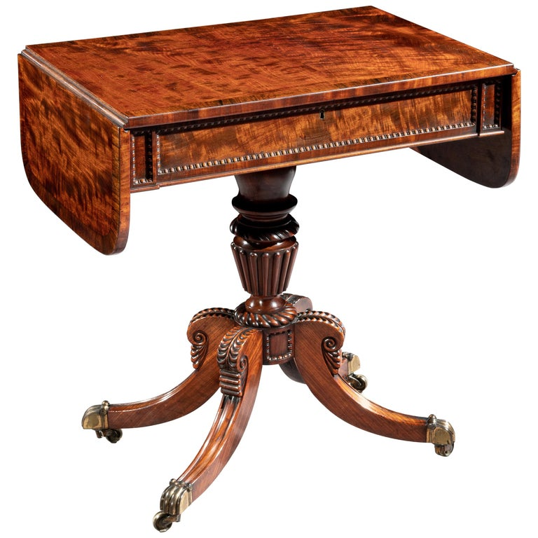 Regency Mahogany Sofa Table of Small Proportions William Trotter For Sale