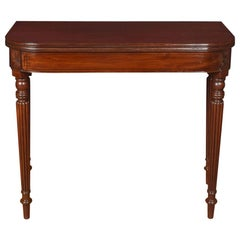 Regency Mahogany Tea Table