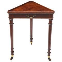 Regency Mahogany Triangular Table