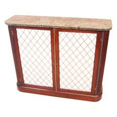 Regency Mahogany Two-Door Side Cabinet