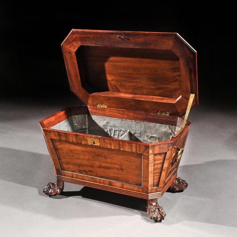 Regency Mahogany Wine Cooler Cellarette of Sarcophagus Form For Sale 5