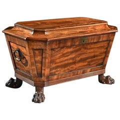 Regency Mahogany Wine Cooler Cellarette of Sarcophagus Form