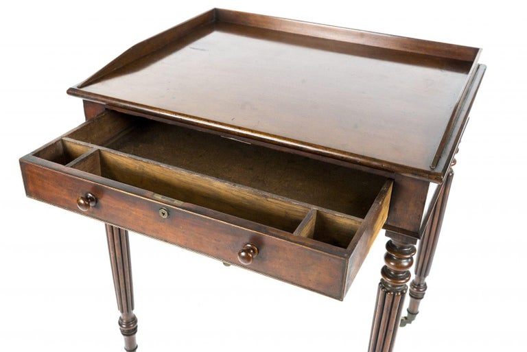William IV Regency Mahogany Writing Table Attributed to Gillows For Sale