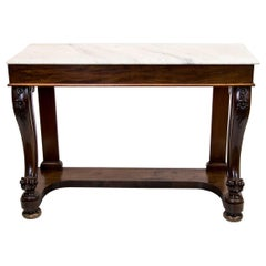Regency Marble-Top Console Table