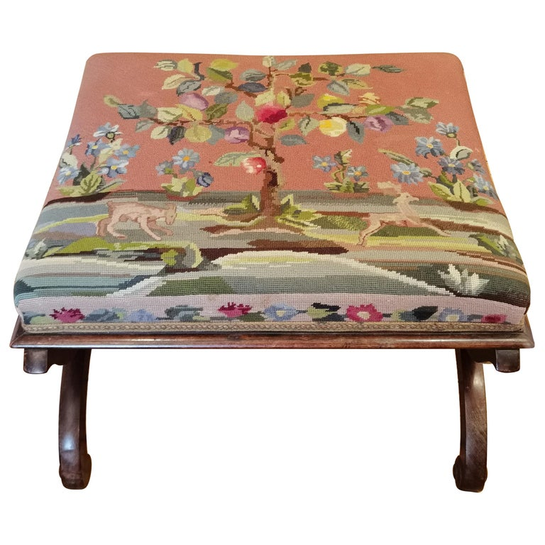 Regency Needlewood and Rosewood Stool For Sale