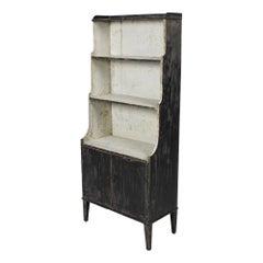 Regency Original Painted Pine Waterfall Bookcase