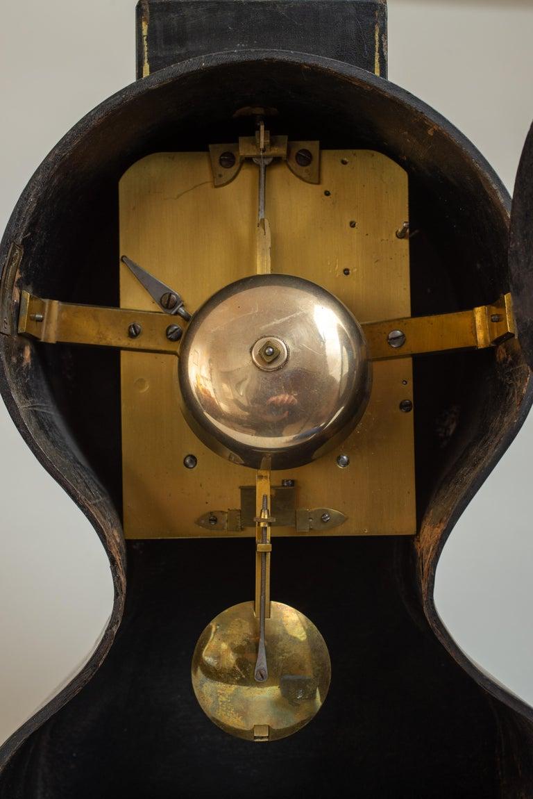 Regency Painted Papier Mache Mantle Clock For Sale 2