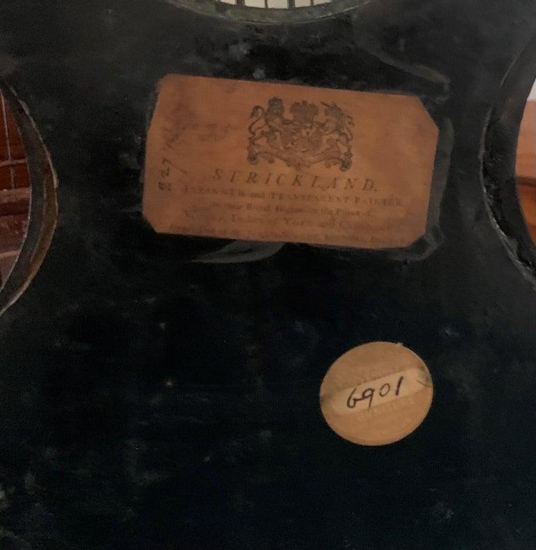 Regency Painted Papier Mache Mantle Clock For Sale 3