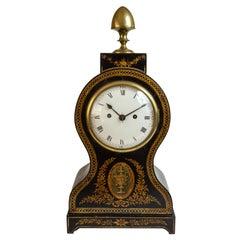 Regency Painted Papier Mache Mantle Clock
