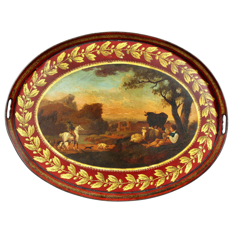 Regency Painted Tole Tray