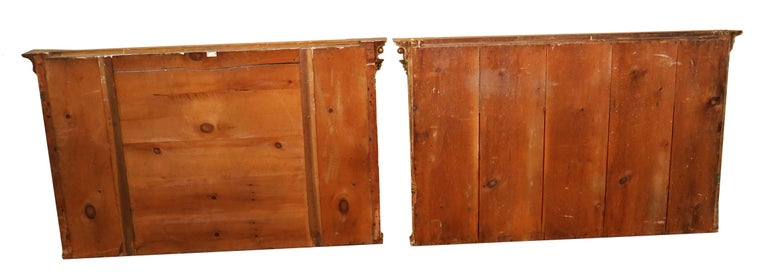 Regency Pair of Giltwood and Gesso English Overmantle Mirrors For Sale 2