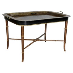 Regency Papier Mâché Tray Top Coffee Table