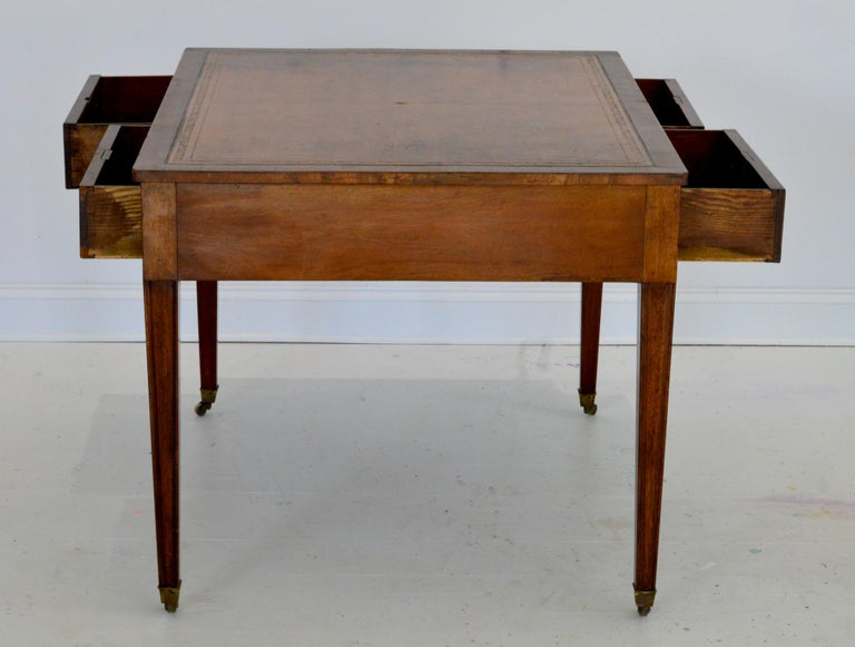 Regency Partners Desk or Writing Table of Mahogany For Sale 6