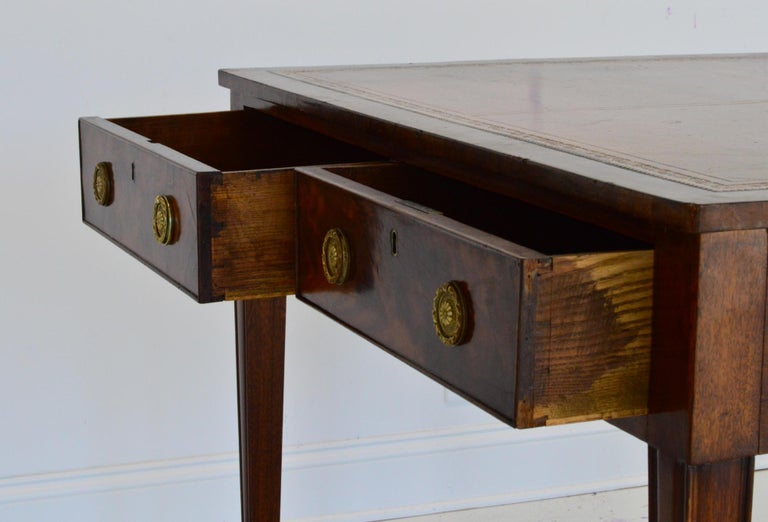 Regency Partners Desk or Writing Table of Mahogany For Sale 7