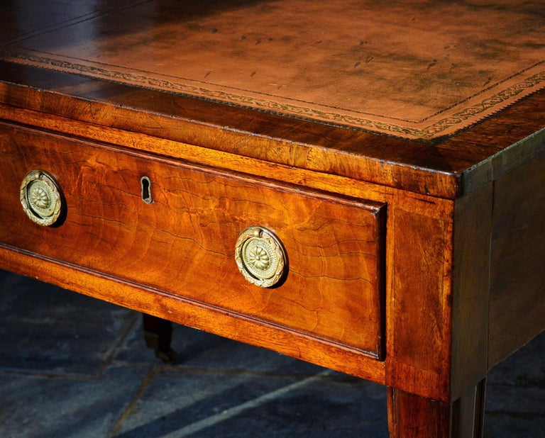 Hand-Crafted Regency Partners Desk or Writing Table of Mahogany For Sale
