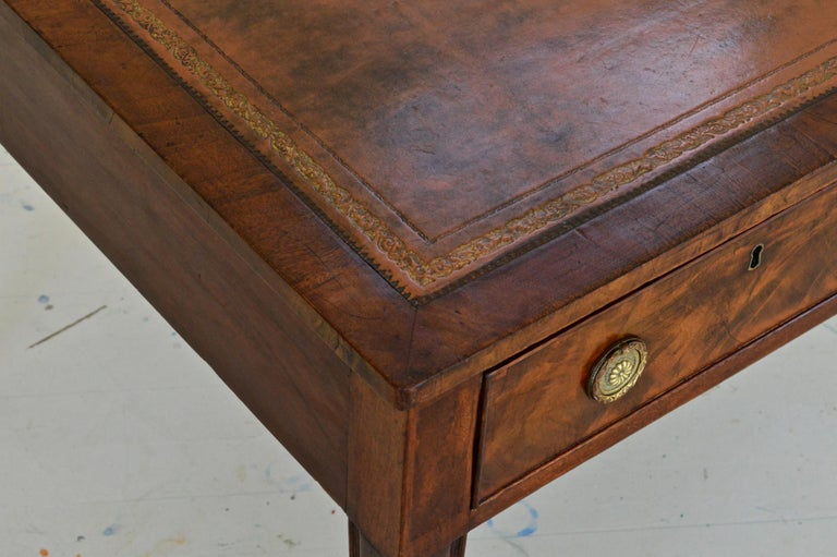 Regency Partners Desk or Writing Table of Mahogany In Good Condition For Sale In Charlottesville, VA
